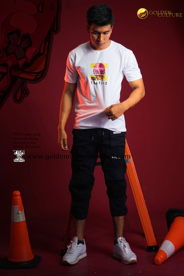 Ice-Cream Melt YGN Traffic Slim Fit T-shirt (White)